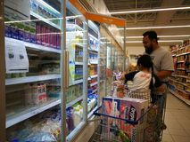 Selangor, Malaysia - 18 September 2017 : Groceries shopping at Tesco Bandar Puteri, near Bukit Mahkota and Bandar Seri Putra. stock photography