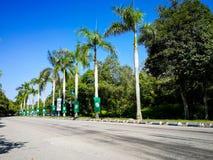 SELANGOR, MALEISIË - 28 April 2018: de vlaggen en de banners van politieke partijen die aan Algemeen Maleisië ` s veertiende zull stock foto