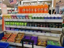 Selangor, Malezja - 18 2017 Wrzesień: Sklepu spożywczego zakupy przy Tesco Bandar Puteri blisko Bukit Mahkota i Bandar Seri Putra Obraz Stock