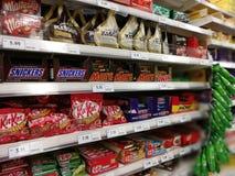 Selangor, Malezja - 18 2017 Wrzesień: Sklepu spożywczego zakupy przy Tesco Bandar Puteri blisko Bukit Mahkota i Bandar Seri Putra Fotografia Royalty Free