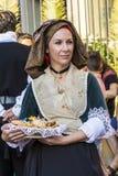 SELARGIUS, ΙΤΑΛΙΑ - 14 ΣΕΠΤΕΜΒΡΊΟΥ 2014: Αρχαίος γάμος Selargino - Σαρδηνία Στοκ Εικόνες