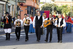 SELARGIUS, ΙΤΑΛΙΑ - 13 Σεπτεμβρίου 2015: Προηγούμενος γάμος Selargino - Σαρδηνία Στοκ Φωτογραφίες