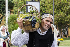 SELARGIUS, ΙΤΑΛΙΑ - 13 Σεπτεμβρίου 2015: Προηγούμενος γάμος Selargino - Σαρδηνία Στοκ Φωτογραφία