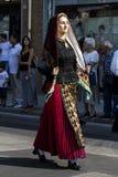 SELARGIUS, ИТАЛИЯ - 11-ОЕ СЕНТЯБРЯ 2016: Старое wedding Selargino - Сардиния Стоковая Фотография RF