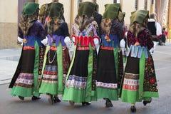 SELARGIUS, ITÁLIA - o 9 de setembro 2012: Casamento velho Selargino Imagens de Stock Royalty Free