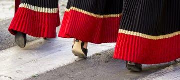 "SELARGIUS, ITALIË - 2014 14 September: Vroeger huwelijk Selargino †""Sardinige Royalty-vrije Stock Foto"