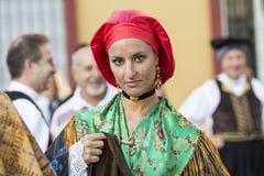SELARGIUS, ITALIË - September 14, 2014: Vroeger huwelijk Selargino - Sardinige Royalty-vrije Stock Afbeelding