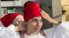 SELARGIUS, ITALIË - September 8, 2013: Vroeger huwelijk Selargino - Sardinige Royalty-vrije Stock Afbeeldingen