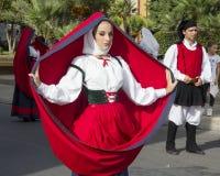 SELARGIUS, ITALIË - September 8, 2013: Vroeger huwelijk Selargino - Sardinige Stock Afbeeldingen