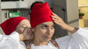 SELARGIUS, ITALIA - 8 settembre 2013: Precedente matrimonio Selargino - Sardegna Immagini Stock Libere da Diritti
