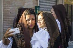 SELARGIUS, ITALIE - 14 septembre 2014 : Ancien mariage Selargino - Sardaigne Image stock