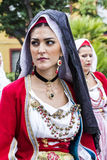 SELARGIUS, ITALY - September 13, 2015: Former marriage Selargino - Sardinia Stock Photo