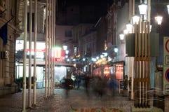Selari gata vid natt Arkivfoton
