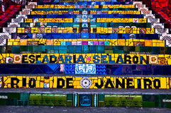 Selaron Stairs in Rio de Janeiro Royalty Free Stock Images