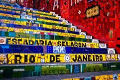 Selaron trappa i Rio de Janeiro Arkivfoton