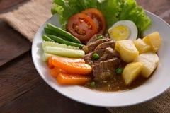 Selat de solo alimento tradicional do javanese foto de stock
