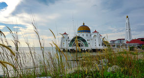 Selat Melaka (Strait Malacca) Mosque, Malacca, Malaysia Royalty Free Stock Photography