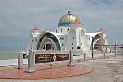 selat pływający melaka meczetu Zdjęcia Royalty Free