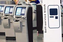 Selbst - Check - in der Maschine Lizenzfreies Stockfoto