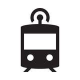 Selbst, der Zug fährt - Glyph-Ikone - Schwarzes Stockfotos