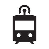 Selbst, der Zug fährt - Glyph-Ikone - Schwarzes Lizenzfreie Abbildung