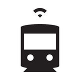Selbst, der Zug fährt - Glyph-Ikone - Schwarzes Lizenzfreie Stockbilder