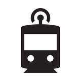 Selbst, der Zug fährt - Glyph-Ikone - Schwarzes Vektor Abbildung