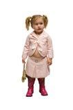 Selbst gekleidetes Kind Stockfoto