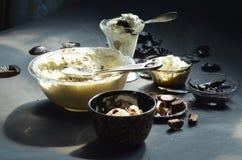 Selbst gemacht keine ButterfassErdnussbutter-Schalen-Eiscreme Lizenzfreie Stockbilder