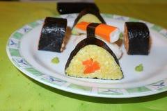 Selbst gemacht, Sushi-Maki stockfotografie