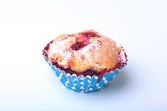 Selbst gemachte Blaubeermuffins mit Puderzucker und frischen Beeren Lizenzfreies Stockbild