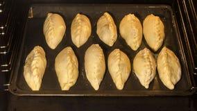 Selbst gemachte Fleischtorte im Ofen kochen, stock footage