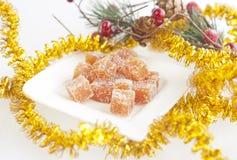 Selbst gemachte Fruchtsüßigkeit für Weihnachten stockfotos
