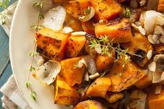 Selbst gemachte gekochte Süßkartoffel Stockfotos