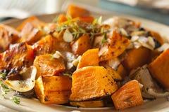 Selbst gemachte gekochte Süßkartoffel Stockfotografie