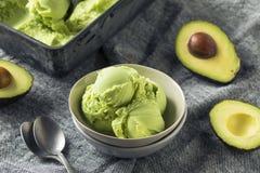 Selbst gemachte grüne organische Avocado-Eiscreme Stockbild