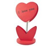 Selbst gemachte heart-shaped Blume Lizenzfreie Stockfotografie