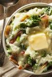 Selbst gemachte irische Kartoffel Colcannon Stockfotos