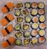Selbst gemachte Japan-Sushipartei lizenzfreies stockfoto