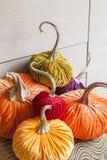Selbst gemachte Kürbise für Halloween Lizenzfreies Stockfoto