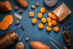 Selbst gemachte Kartoffelkroketten Lizenzfreie Stockbilder