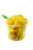 Selbst gemachte knusperige Bananen-Chips Lizenzfreie Stockbilder