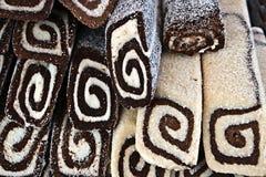 Selbst gemachte Kuchen mit Kokosnuss Lizenzfreie Stockfotos