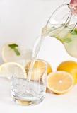 Selbst gemachte Limonade mit Minze Stockfoto