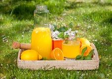 Selbst gemachte Limonade von den Orangen Lizenzfreie Stockbilder