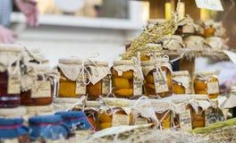 Selbst gemachte Mandarinen-Marmelade Lizenzfreies Stockfoto