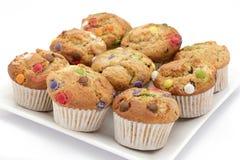 Selbst gemachte Muffins oder kleine Kuchen Stockfotografie