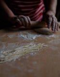 Selbst gemachte Nudeln und selbst gemachter Teig Stockfotos