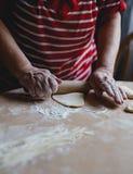 Selbst gemachte Nudeln und selbst gemachter Teig Stockbilder