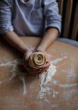 Selbst gemachte Nudeln und selbst gemachter Teig lizenzfreies stockbild